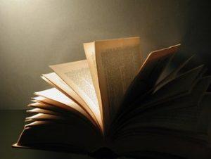 An open book - illustration